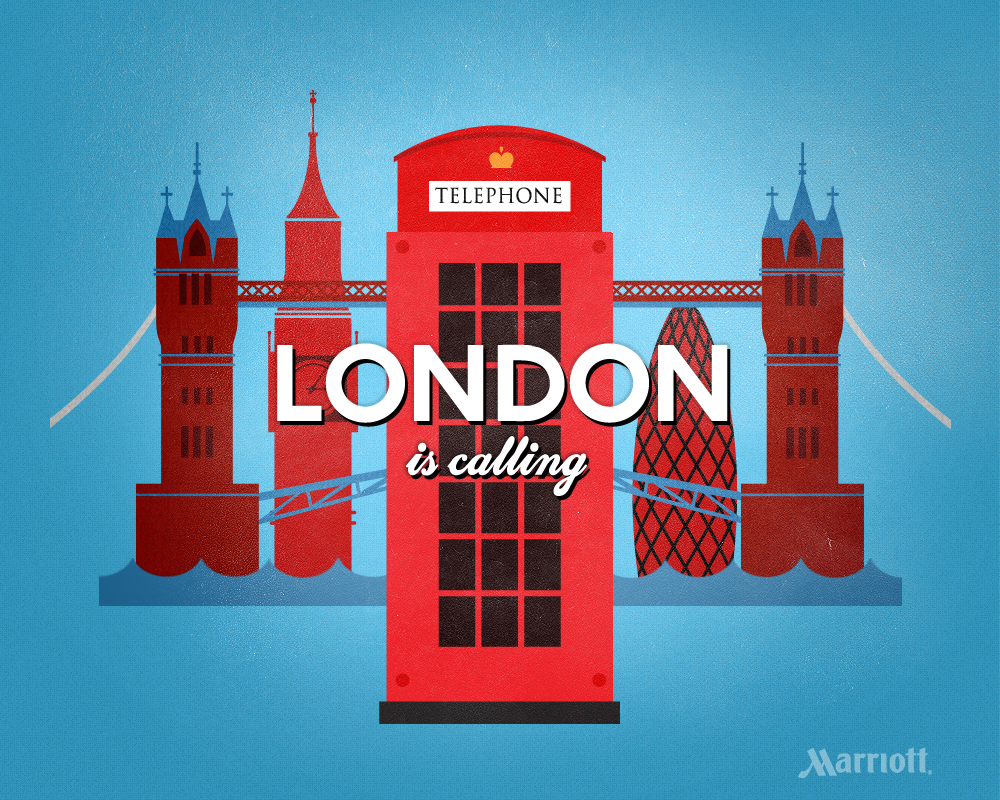 London Is Calling London Travel Poster Microcontent