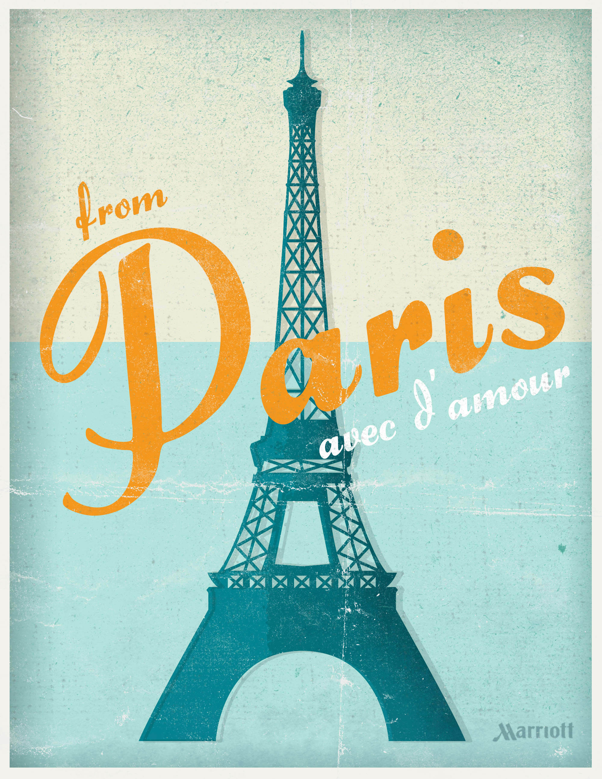 from paris with love paris travel poster microcontent